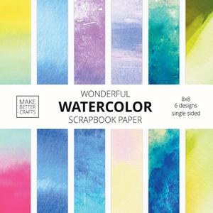 Wonderful Watercolor Scrapbook Paper