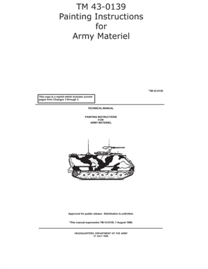 TM 43-0139 Painting Instructions for Army Materiel