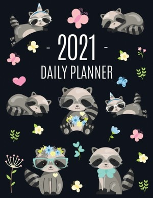 Raccoon Daily Planner 2021