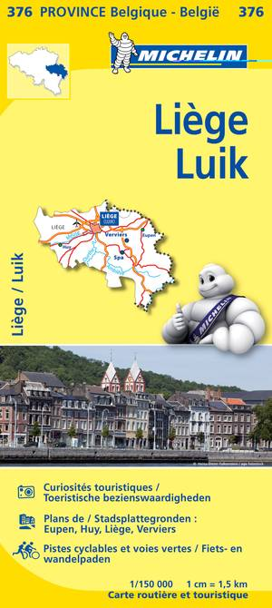 Michelin 376 Liege Luik 1:150.000
