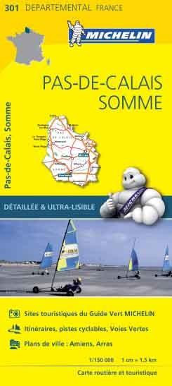 Michelin 301 Pas-de-Calais Somme 1:150.000 wegenkaart