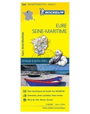 Michelin 304 Eure Seine-Maritime 1:150.000 wegenkaart