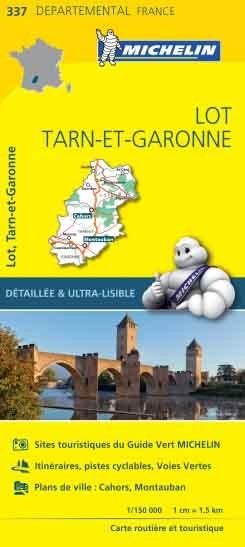 Michelin 337 lot tarn-et-garonne 1:150.000 wegenkaart
