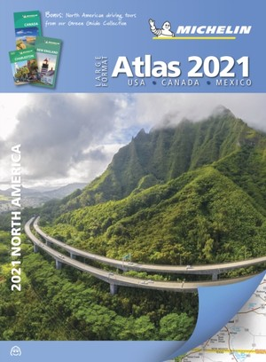 Michelin North America Large Format Atlas 2021: USA, Canada and Mexico