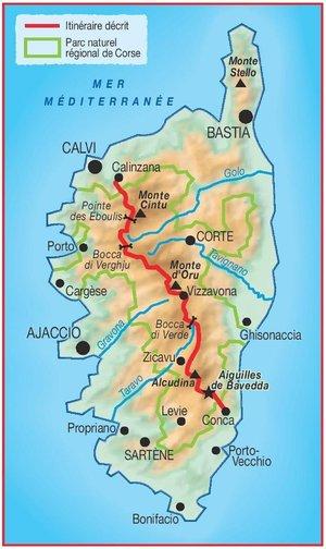 A travers la montagne Corse GR20