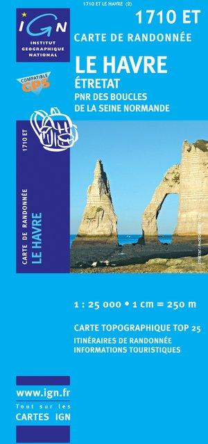 Havre/Etretat / National Regional Parc Des Boucles Seine Normandie 1 : 25 000