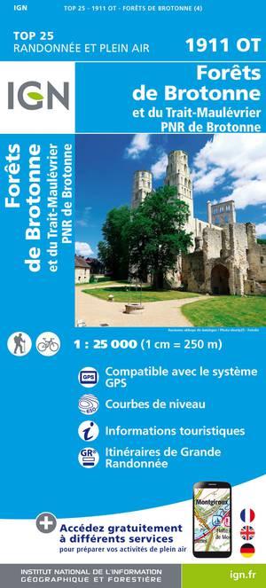 Forêts de Brotonne et du Trait-Maulévrier - PNR des Boucles de la Seine Normande 1 : 25 000