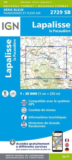 IGN 2729SB Lapalisse - La Pacaudière 1:25.000 Série Bleue Topografische Wandelkaart