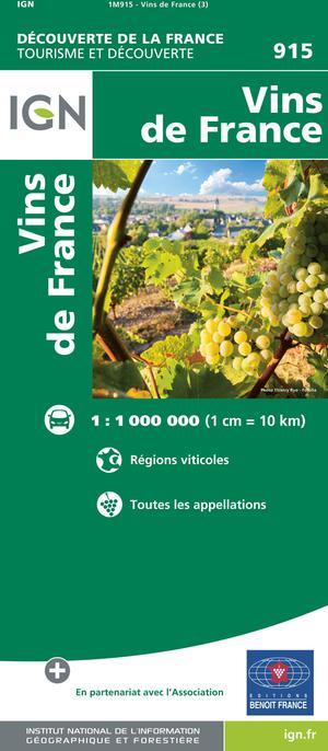 Frankrijk Vins -régions viticoles - toutes les appellations