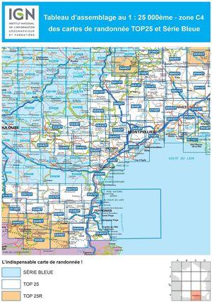 IGN 2741ET St-Hippolyte-du-Fort Anduze - St-Jean-du-Gard 1:25.000 TOP25 Topografische Wandelkaart