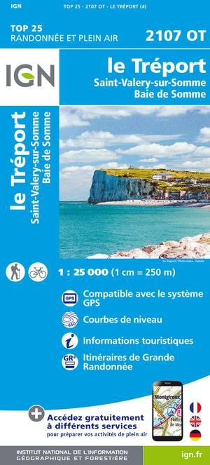 IGN 2107OT Le Tréport - St-Valery-sur-Somme 1:25.000 TOP25 Topografische Wandelkaart