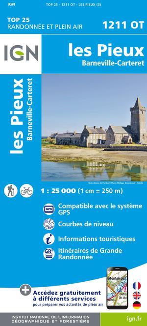 IGN 1211OT Les Pieux - Barneville-Carteret 1:25.000 TOP25 Topografische Wandelkaart