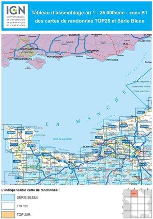 IGN 1310OT Cherbourg-en-Cotentin - Pointe de Barfleur 1:25.000 TOP25 Topografische Wandelkaart