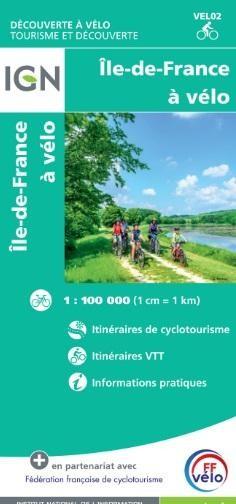 IGN Fietskaart VELO02 Ile-de-France  à vélo 1:100.000