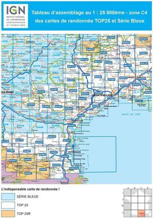 IGN 2639SB Florac - Ste-Enimie - Gorges du Tarn 1:25.000 Série Bleue Topografische Wandelkaart