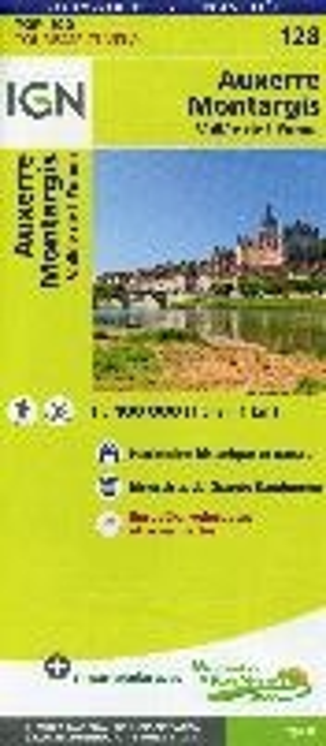IGN Fietskaart Wegenkaart 128 Auxerre - Montargis 1:100.000 TOP100