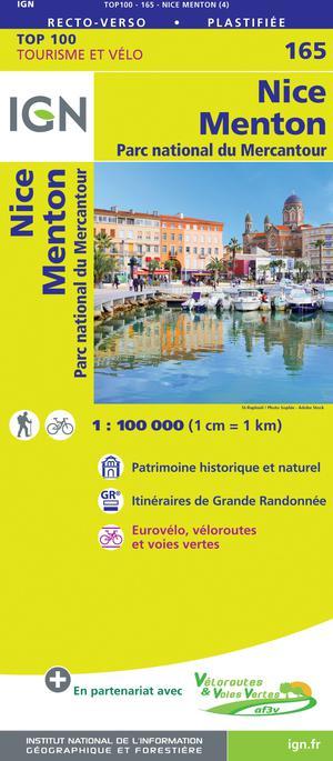 IGN Fietskaart Wegenkaart 165  Nice - Menton 1:100.000 TOP100