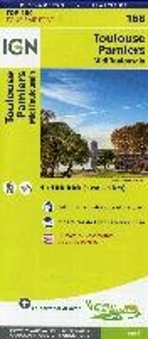 IGN Fietskaart Wegenkaart 168 Toulouse - Pampiers 100.000 TOP100