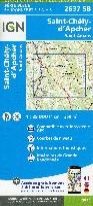 IGN 2637SB St-Chély-d'Apcher - St-Amans 1:25.000 Série Bleue Topografische Wandelkaart