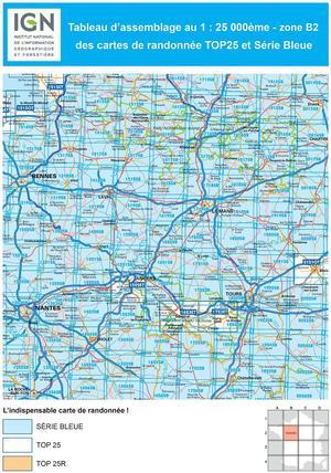 IGN 2014SB St-André-de-l'Eure - Nonancourt 1:25.000 Série Bleue Topografische Wandelkaart