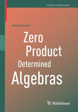 Zero Product Determined Algebras