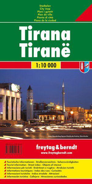 F&B Tirana 1:10.000 stadsplattegrond (Albanie)