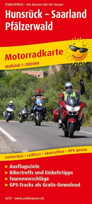 Hunsrück Saarland - Paltserwoud motorkaart