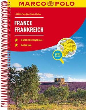 MARCO POLO Reiseatlas Frankreich 1:300 000 Laufzeit bis 2025