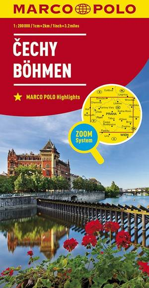 MARCO POLO Karte Tschechien 01 Westböhmen / Mittelböhmen  1 : 200 000