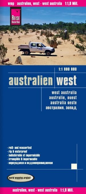 Reise Know-How Landkarte Australien, West / Australia, West 1:1.800.000