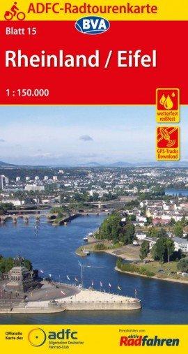 ADFC-Radtourenkarte 15 Rheinland / Eifel 1 : 150 000