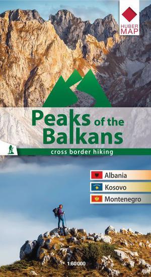 Wanderkarte Peaks of the Balkans 1: 60 000