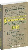 Adreßbuch Einwohnerbuch der Stadt WALTERSHAUSEN 1949