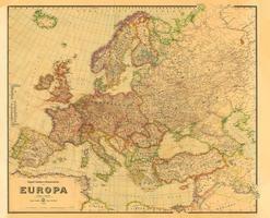 Historische Verkehrskarte von EUROPA 1942 [gerollt]