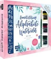 Handlettering Alphabete Watercolor - Das Starter-Set - Feine Buchstaben mit Pinsel und Brush Pen