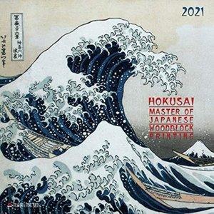 Hokusai - Japanese Woodblock Printing Kalender 2021