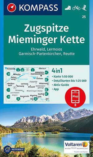 Zugspitze 25 GPS wp Mieminger Kette kompass + AG