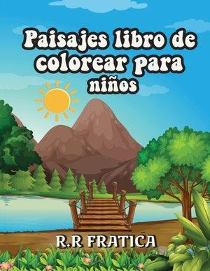 Paisajes libro de colorear para niños