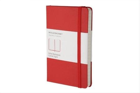Moleskine Pocket Ruled Notebook Red