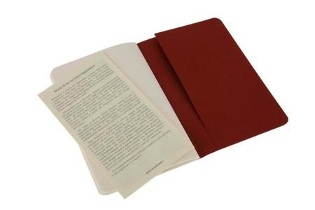 Moleskine Plain Cahier - Red Cover (3 Set)