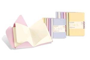 Moleskine Messages Postal Notebook, Pocket, Plain, Persian Lilac