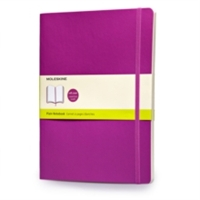 Moleskine Classic Colored Notebook, Extra Large, Plain, Orchid Purple