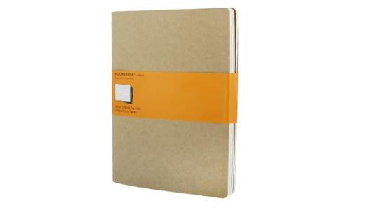Moleskine Cahier Extra Large liniert packpapierbraun. 3er Pack