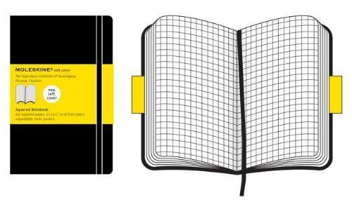 Moleskine Soft Cover Pocket Squared Notebook Black
