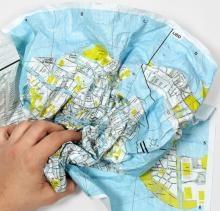 Crumpled Map - Hamburg