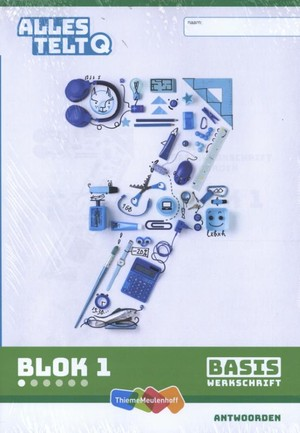Alles telt Q Antwoordschrift Basis blok 1 t/m 6 groep 7