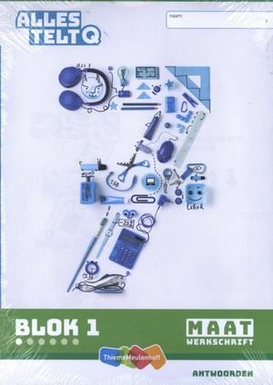 Alles telt Q Antwoordschrift Maat blok 1 t/m 6 groep 7