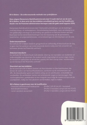 Elementaire bedrijfsadministratie Basisboek deel 3 niveau 3 en 4