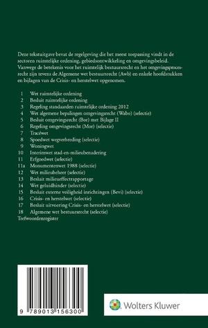 Tekstuitgave Ruimtelijk bestuursrecht 2020/2