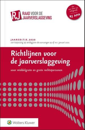 Richtlijnen voor de jaarverslaggeving, middelgrote en grote rechtspersonen 2020